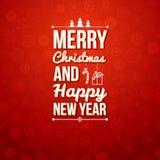 Vrolijke Kerstmis en Gelukkige nieuwe jaarkaart. Royalty-vrije Stock Fotografie