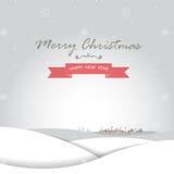 Vrolijke Kerstmis en gelukkige nieuwe jaarkaart Royalty-vrije Stock Foto's