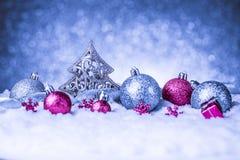 Vrolijke Kerstmis en gelukkige nieuwe jaarkaart Stock Afbeeldingen