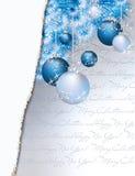 Vrolijke Kerstmis en gelukkige nieuwe jaarkaart Stock Foto's