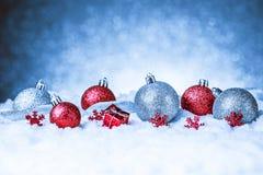 Vrolijke Kerstmis en gelukkige nieuwe jaarkaart Royalty-vrije Stock Fotografie