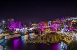 Vrolijke Kerstmis en gelukkige nieuwe yearï ¼ ŒBeijing Stock Afbeelding