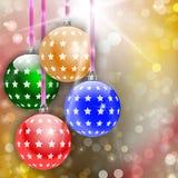Vrolijke Kerstmis en Gelukkige Nieuwjaar abstracte achtergrond Stock Afbeeldingen