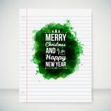 Vrolijke Kerstmis en Gelukkige Nieuwjaar typografische krantekop. Stock Foto's