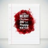 Vrolijke Kerstmis en Gelukkige Nieuwjaar typografische krantekop. Royalty-vrije Stock Afbeelding