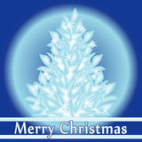 Vrolijke Kerstmis en Gelukkige Nieuwjaar vectorgroet Royalty-vrije Stock Foto's