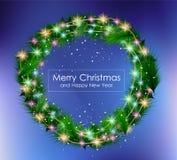 2016 Vrolijke Kerstmis en Gelukkige Nieuwjaarachtergrond vector illustratie