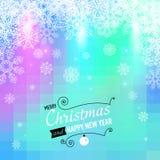 Vrolijke Kerstmis en Gelukkige Nieuwjaarskaart. Stock Foto