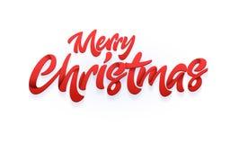 Vrolijke Kerstmis en Gelukkige Nieuwjaartypografie Royalty-vrije Stock Foto