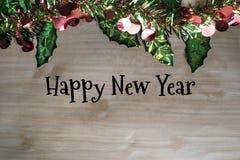 Vrolijke Kerstmis en het gelukkige nieuwe ontwerp van de jaarviering met copys Stock Afbeeldingen