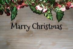 Vrolijke Kerstmis en het gelukkige nieuwe ontwerp van de jaarviering met copys Royalty-vrije Stock Foto