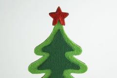 Vrolijke Kerstmis en het Gelukkige Nieuwjaar, Kerstboom simuleren op whit achtergrond Royalty-vrije Stock Afbeeldingen