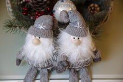 Vrolijke Kerstmis en het Nieuwjaar 2017 stellen, speelgoed, decoratie voor Concepy van vakantie Stock Afbeelding