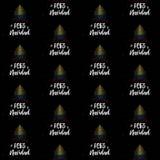 Vrolijke Kerstmis en Kerstboom met Columbiaans vlag naadloos vectorpatroon royalty-vrije illustratie