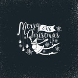 Vrolijke Kerstmis en Kerstman Stock Afbeeldingen