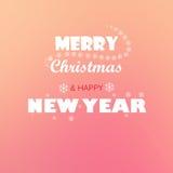Vrolijke Kerstmis en nieuw jaar Stock Foto's