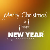 Vrolijke Kerstmis en nieuw jaar Royalty-vrije Stock Afbeelding