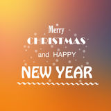 Vrolijke Kerstmis en nieuw jaar Royalty-vrije Stock Fotografie