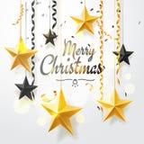 Vrolijke Kerstmis en 2018 Nieuwjaarachtergrond voor de kaart van de vakantiegroet, uitnodiging, partijvlieger, affiche, banner go stock illustratie