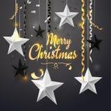 Vrolijke Kerstmis en 2018 Nieuwjaarachtergrond voor de kaart van de vakantiegroet, uitnodiging, partijvlieger, affiche, banner wi royalty-vrije illustratie