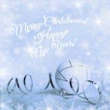 Vrolijke Kerstmis, gelukkig nieuw jaar Royalty-vrije Stock Afbeeldingen