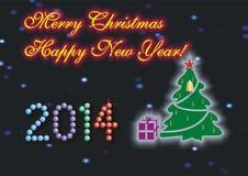Vrolijke Kerstmis & Gelukkig Nieuwjaar Royalty-vrije Stock Afbeelding