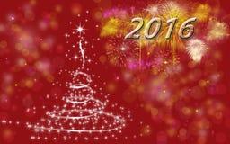 Vrolijke Kerstmis (Gelukkig Nieuwjaar 2016) Stock Fotografie