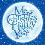 Vrolijke Kerstmis & gelukkige nieuwe jaargroet Stock Foto's