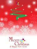 Vrolijke Kerstmis & gelukkige nieuwe jarenachtergrond Royalty-vrije Stock Afbeeldingen