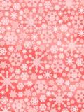 Vrolijke Kerstmis!! Gloeiende Sneeuwvlokken Stock Foto's