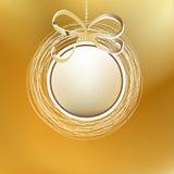 Vrolijke Kerstmis gouden kaart. + EPS8 Stock Foto's