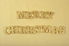 Vrolijke Kerstmis gouden tekst royalty-vrije stock foto