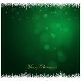 Vrolijke Kerstmis groene achtergrond, vakantieseizoen Stock Afbeelding