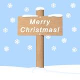 Vrolijke Kerstmis Hand getrokken illustratie Stock Afbeeldingen