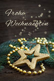 Vrolijke Kerstmis het Duits Stock Foto