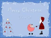 Vrolijke Kerstmis - het `S.A.meisje Stock Fotografie
