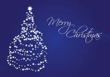 Vrolijke Kerstmis, Kerstmis vectorkaart Stock Afbeelding