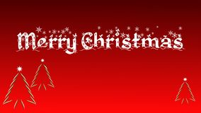 Vrolijke Kerstmis - Kerstmiskaart met 3 Kerstmisboom vector illustratie