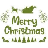 Vrolijke Kerstmis Kerstmiskalligrafie Het met de hand geschreven moderne borstel van letters voorzien Hand getrokken ontwerpeleme stock illustratie
