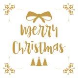 Vrolijke Kerstmis Kerstmiskalligrafie Het met de hand geschreven moderne borstel van letters voorzien Hand getrokken ontwerpeleme vector illustratie