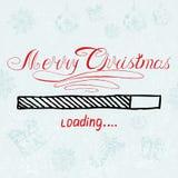 Vrolijke Kerstmis laadt Vectorvakantie Stock Afbeeldingen