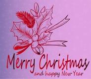 Vrolijke Kerstmis - leuke groetkaart Royalty-vrije Stock Foto's