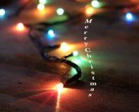 Vrolijke Kerstmis, Lichten Stock Foto's