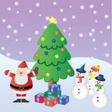 Vrolijke Kerstmis met de Kerstman. Royalty-vrije Stock Afbeeldingen