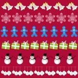 Vrolijke Kerstmis met decoratieelementen Royalty-vrije Stock Foto's