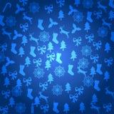 Vrolijke Kerstmis met decoratieelementen Royalty-vrije Stock Afbeelding