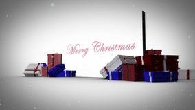 Vrolijke Kerstmis met gelukkige nieuwe jaaranimatie stock illustratie