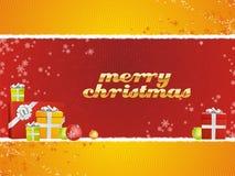 Vrolijke Kerstmis met giften Stock Fotografie