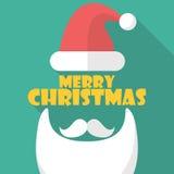 Vrolijke Kerstmis met Kerstmansymbool Stock Afbeeldingen