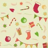 Vrolijke Kerstmis naadloze achtergrond Stock Fotografie